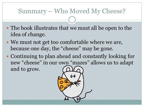 book report on who moved my cheese a book report by corey phillips ppt