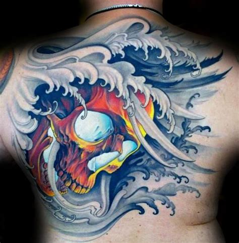 japanese skull tattoo 40 japanese skull designs for cool cranium