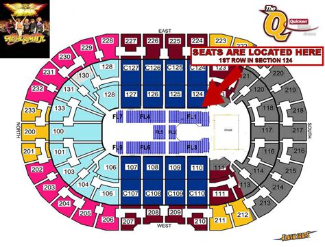 2 aerosmith front row section 124 tickets cleveland 06