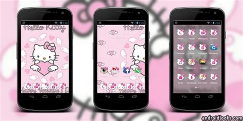hello kitty themes clauncher hello kitty android theme for clauncher androidlooks com
