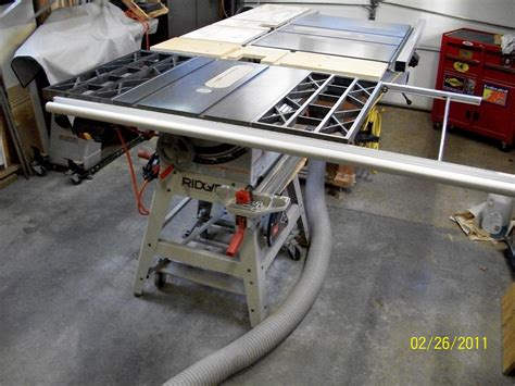 Ridgid Table Saw Extension by Table Saw Do Fence Rails Support Cast Iron Extension