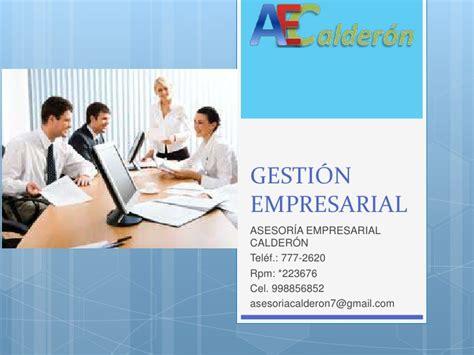 asesor a empresarial calder n gesti 243 n empresarial