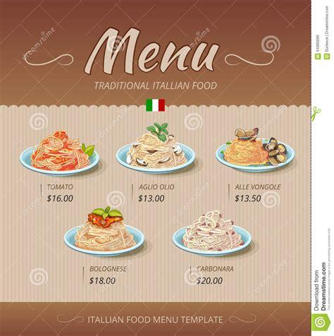 pasta restaurant blueprint kitchen pictures home design pasta restaurant menu vector design template stock vector