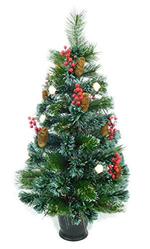 best prelit 3ft christmas trees reviews concepts 174 3ft 90cm pre lit frosted fibre optic tree with cones