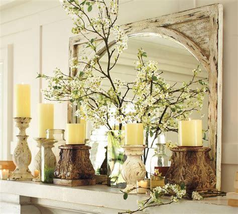 spring decor ideas faux white cherry blossom branch pottery barn spring