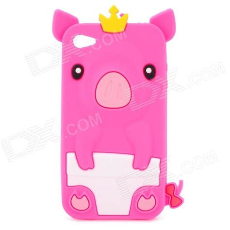 Iphone 55s5se 3d Piggy Pig Silicon protective 3d crown pig silicone for iphone 4 4s pink