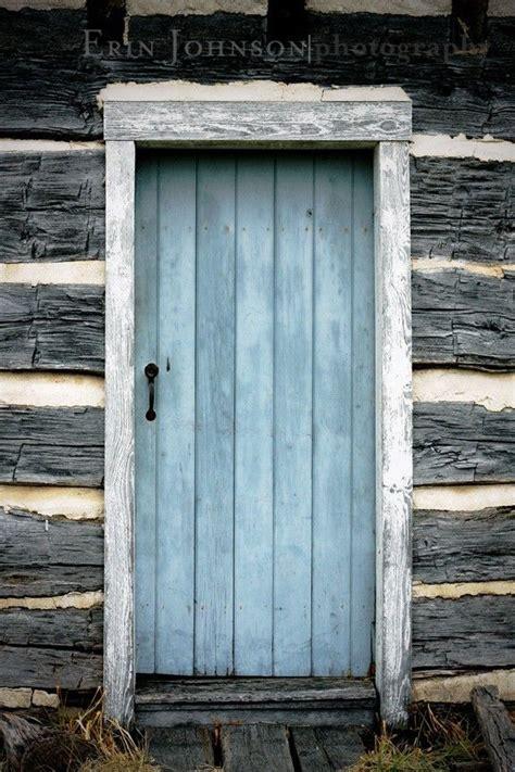 Wood Cabin Decor by Door Photography Blue Decor Rustic Decor Wood Cabin