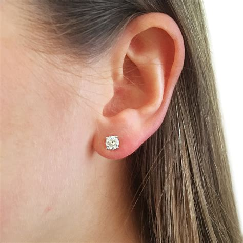 ear cut brilliant cut ear studs brooksbank
