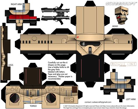 One Papercraft - stormtrooper rogue one cubeecraft by jagamen on deviantart