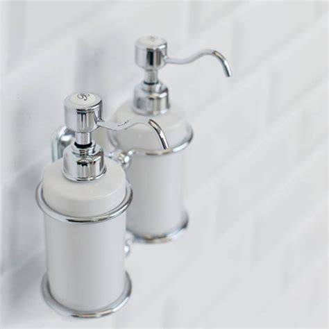 soap dispensers for bathrooms burlington double soap dispenser sanctuary bathrooms