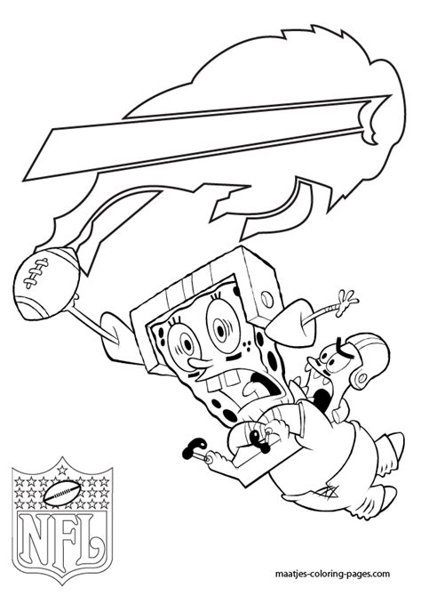 spongebob nfl coloring pages buffalo bills patrick and spongebob coloring pages
