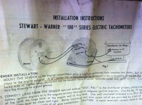 stewart warner tachometer wiring diagram efcaviation