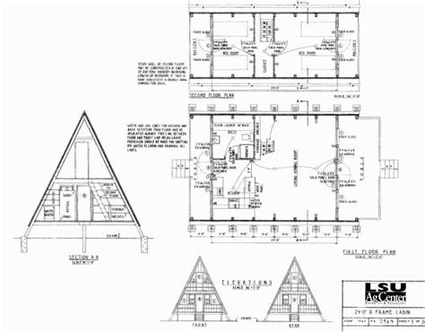 A Frame Floor Plans by Free Small Cabin Plans