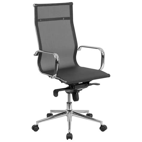 conrad high back modern office chair black