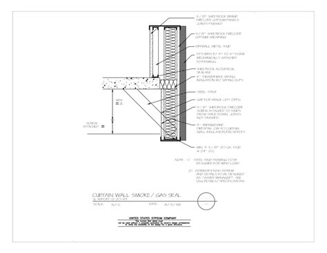curtain wall foundation detail view detail cad 183 pdf 183 image