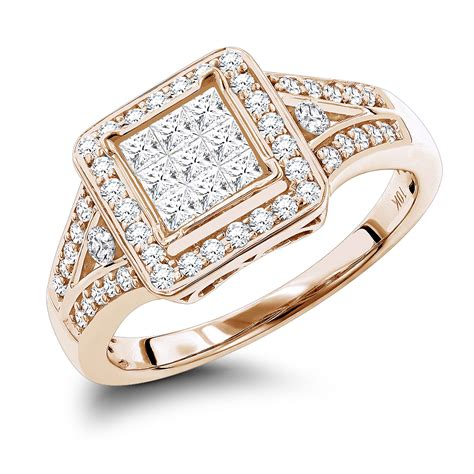 affordable engagement rings 10k gold and princess
