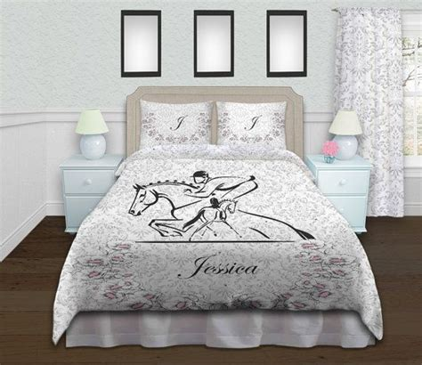 horse themed bedding sets horse kid bedding dressage bedding jumping duvet cover