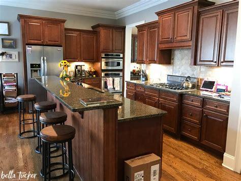 kitchen two tier island before tucker decorative