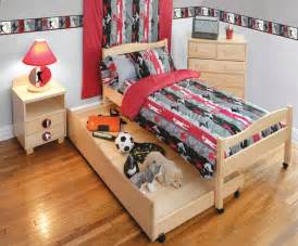 sports themed boys rooms sports bedding window