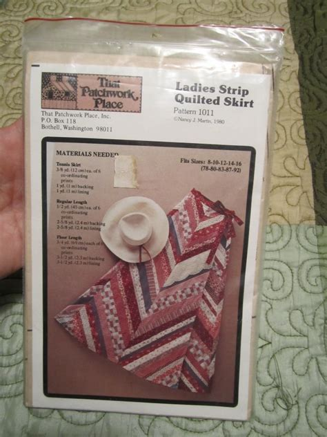 That Patchwork Place Patterns - that patchwork place quilted skirt pattern