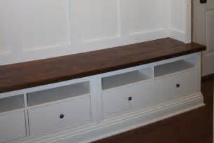 Mudroom Storage Bench Mudroom Storage From An Ikea Hack