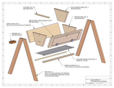 how to make a top bar beehive top bar hive plans david bench