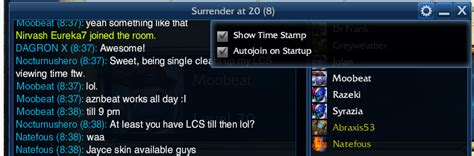 lol chat rooms at 20 na chat room