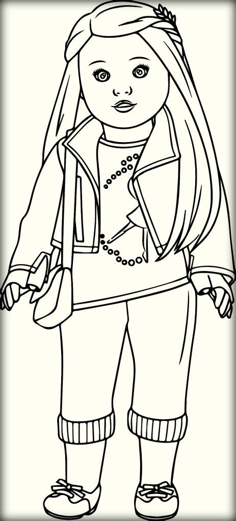 american girl doll coloring pages color zini