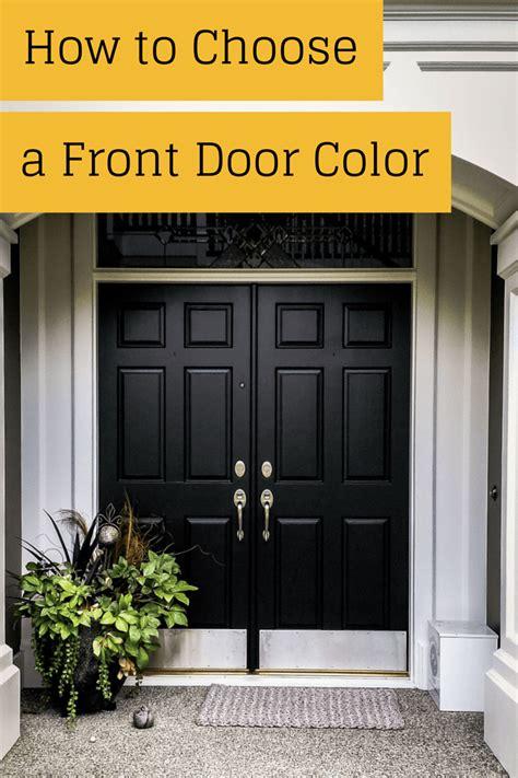 choose  front door color