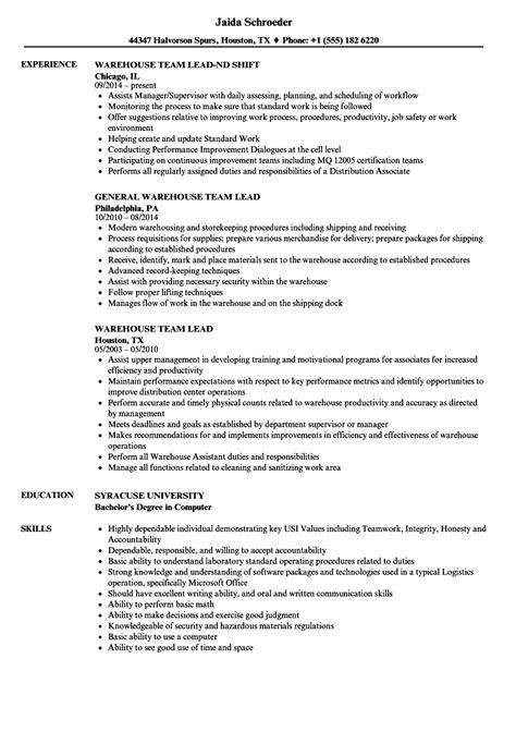 team leader skills for resume sales supervisor resume sales