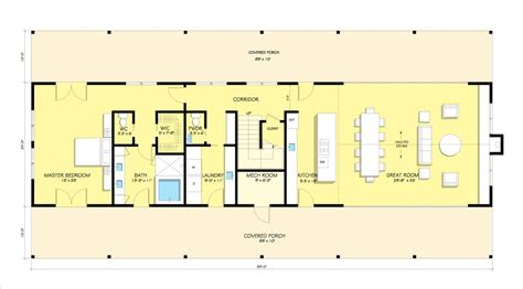 great floor plans for homes modern metal farmhouse with vaulted great room 1