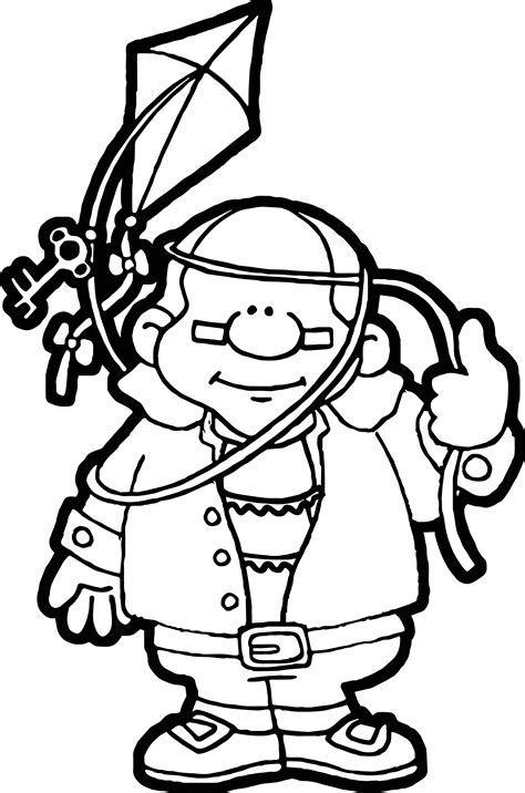 benjamin franklin coloring pages wecoloringpage