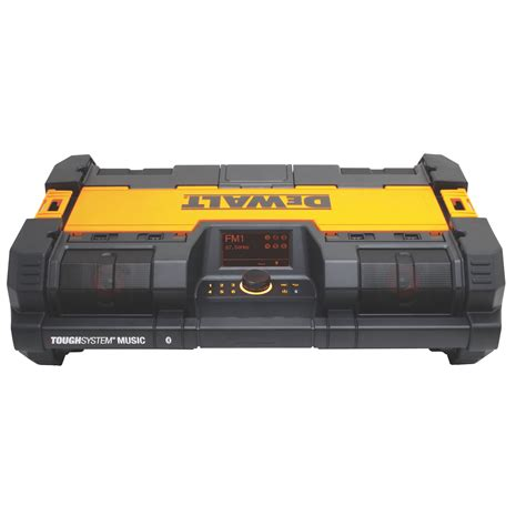 chargers radio dewalt dwst08810 toughsystem bluetooth radio and 12v 20v