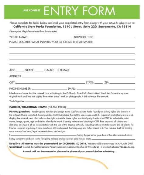 sweepstakes entry form template pretty contest entry form template contemporary