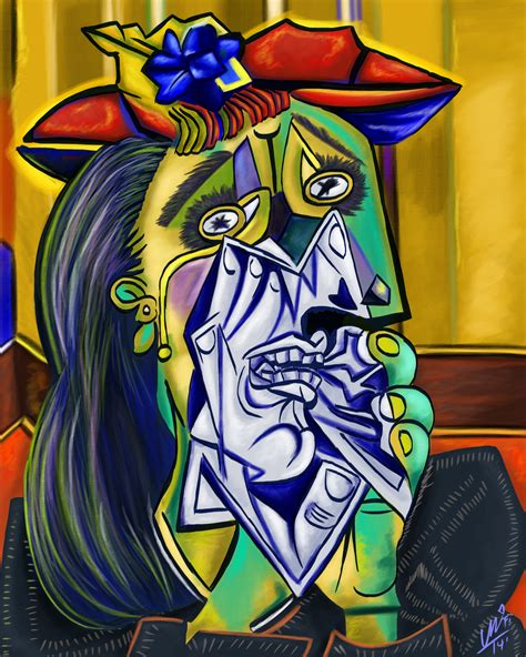 picasso paintings weeping the weeping by youalahuan on deviantart