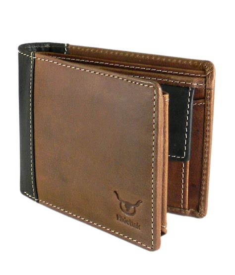 Wallet Brown hidelink leather brown formal wallet buy at