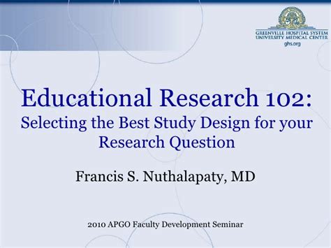 Design Experiment In Educational Research | educational research 102 selecting the best study design