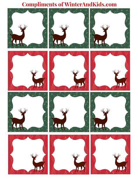 printable reindeer christmas tags 8 best images of printable reindeer gift tags free