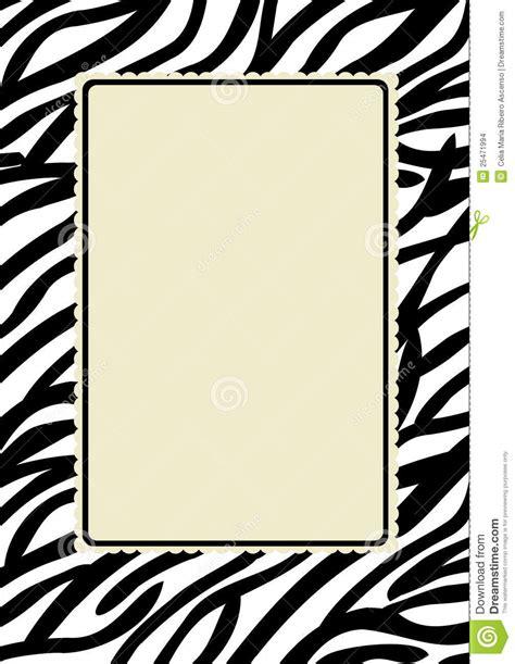 zebra pattern frame zebra print frame stock images image 25471994