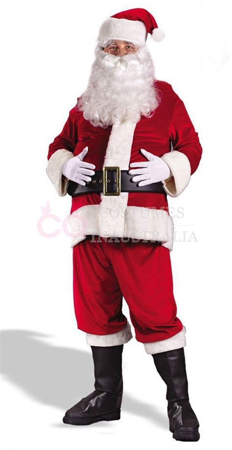 flannel santa claus suit clause christmas xmas fancy dress