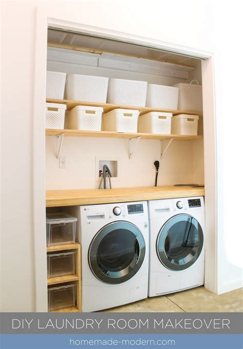 Homemade Modern Ep114 Diy Laundry Room Makeover Laundry Diy