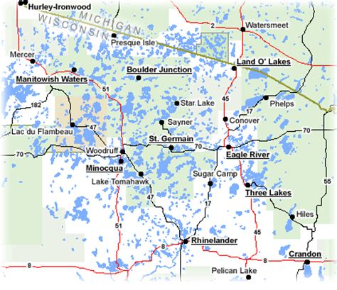 wisconsin lakes map land o lakes wisconsin map wisconsin map