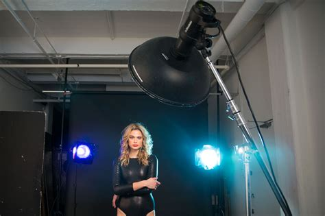 studio photography lighting setup beauty dish two gelled rim lights setup