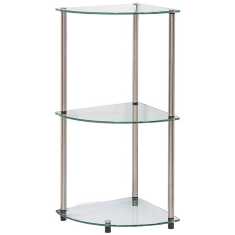 15 best ideas of suspended glass shelves
