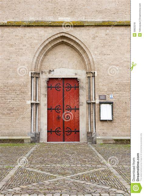 arch shaped wall decor entrance door of walburg church royalty free stock