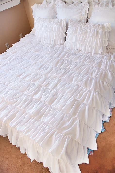 ruffle coverlet ruffle bedding