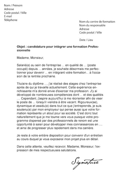 Lettre De Motivation Formation Apb Lettre De Motivation Formation Professionnelle Mod 232 Le De Lettre