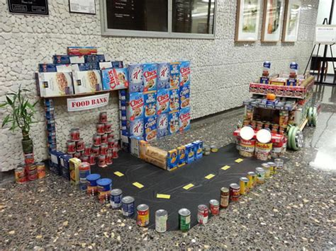 How To Build A Canned Food Sculpture by Photos Alameda County Fights Hunger Using Using Donated
