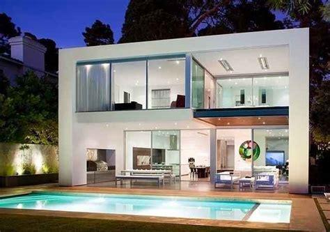 desain rumah mewah  lantai  kolam renang eksterior rumah