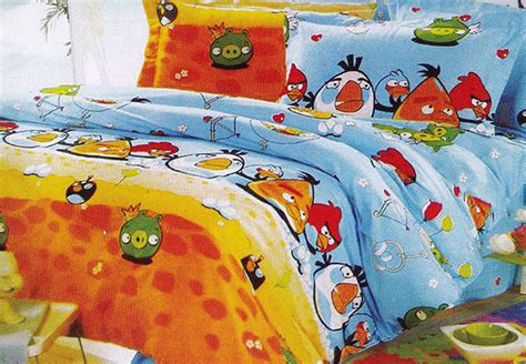Sprei Katun Lokal Motif Angry Bird Uk120x200x25 Bed No3 sprei angry images